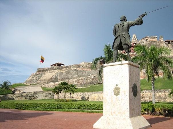 Blas de lezo estatua cartajena de indias