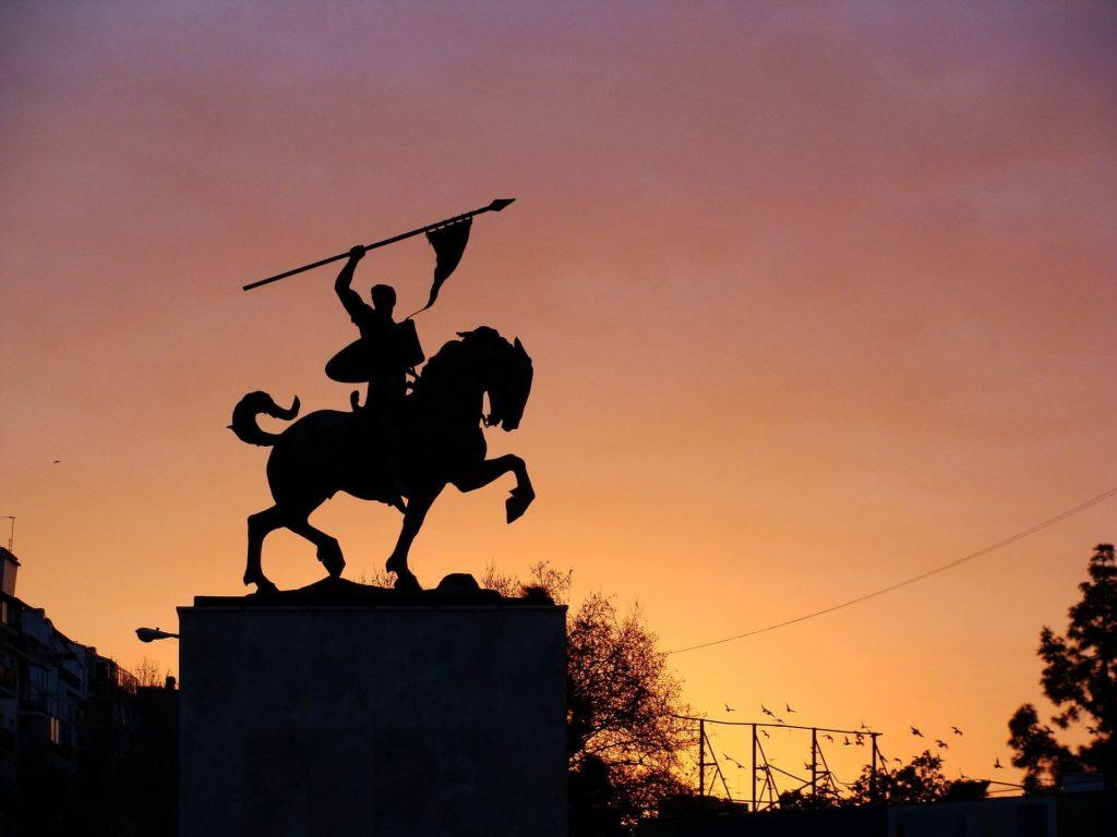 Estatua del cid Campeador Buenos aires argentina