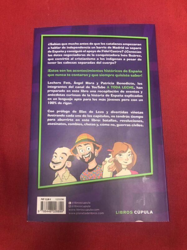 Libro a toda leche Historietas de España contraportada