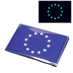 Parche Europa Velcro Fluorescente Brillante noche glow in the dark